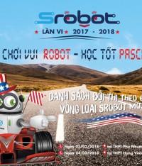 Danh sách đội thi theo địa điểm | SROBOT mở rộng 2018